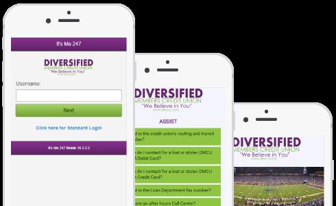Diversified members phone preview
