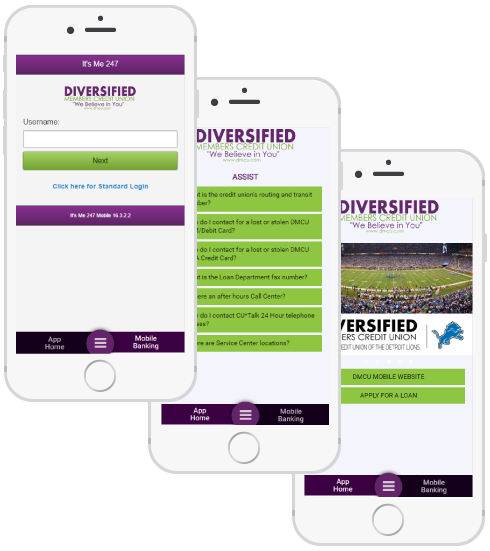 Diversified members phone preview
