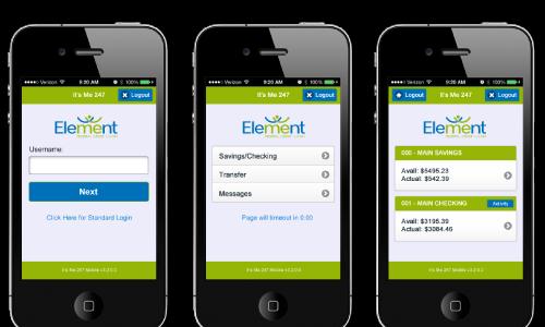 element FCU phone preview