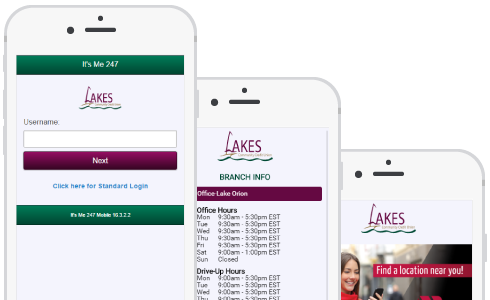 Lakes Community phone preview
