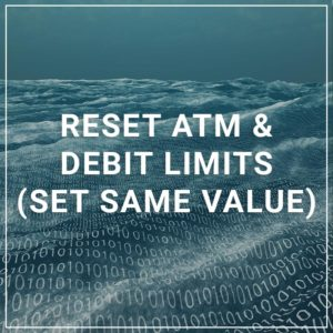 Reset ATM & Debit Limits (Set Same Value) - a service by SettleMINT EFT