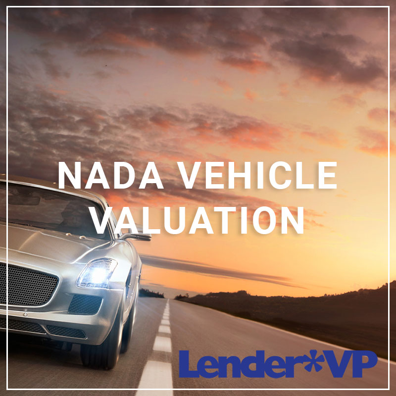 NADA Vehicle Valuation - a service by Lender*VP