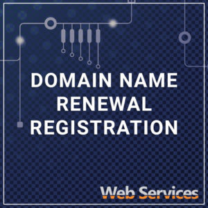 Domain Renewal Registration - a service by Web Services
