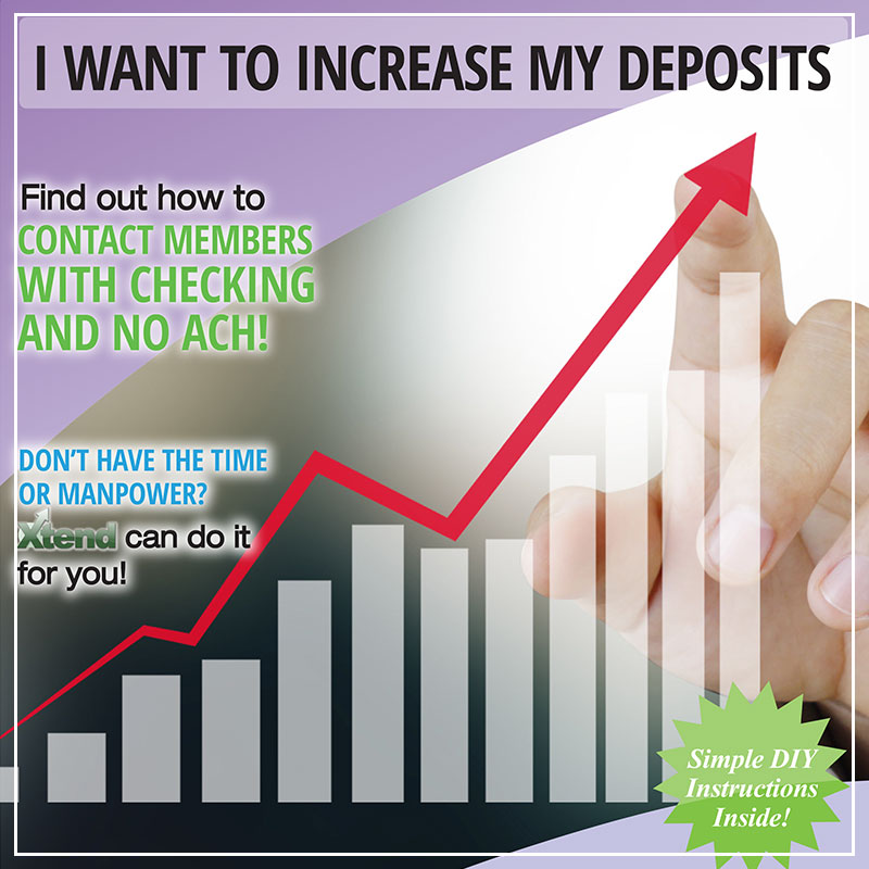 I Want to Increase My Deposits