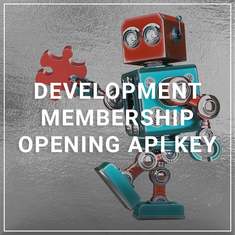 Development Membership Opening API Key