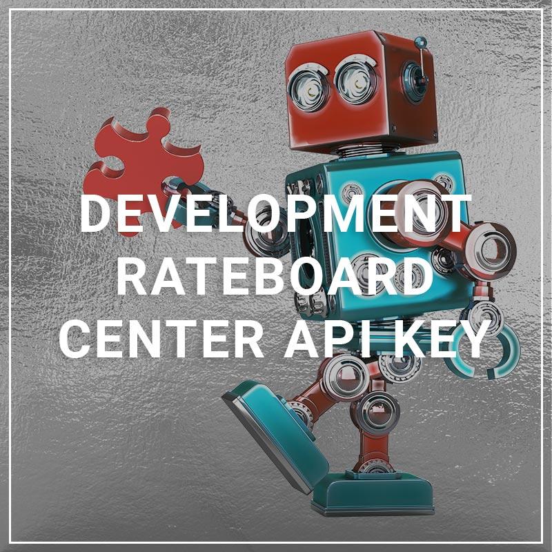 Development Rateboard Center API Key