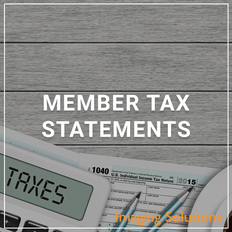 Member Tax Statements - a service by Imaging Solutions