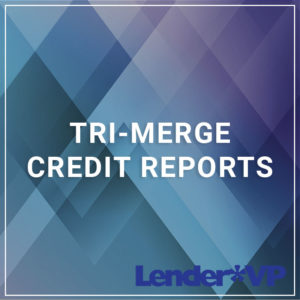 Tri-Merge Credit Reports - a service by Lender*VP