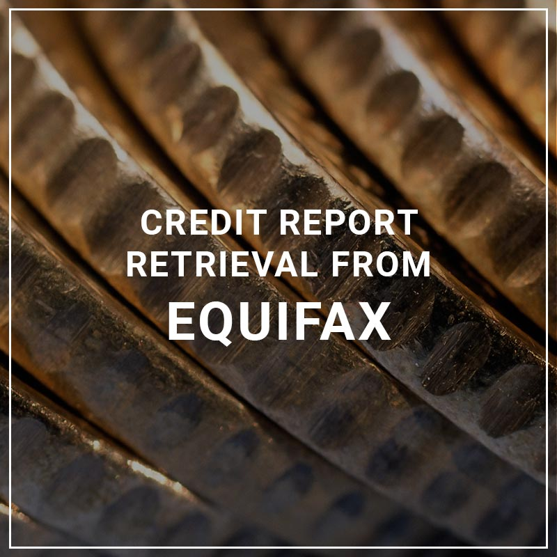 Credit Report Retrieval from Equifax