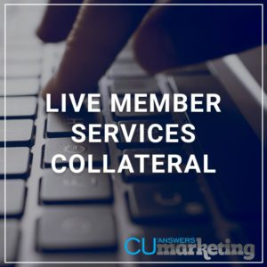 Live Member Services Collateral - a service by Marketing