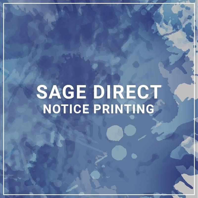 Sage Direct Notice Printing