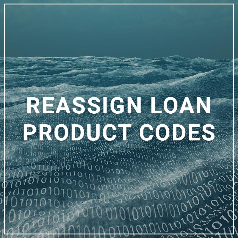 Reassign Loan Product Codes
