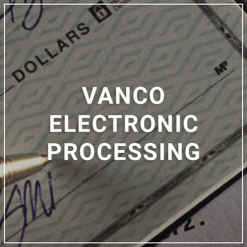 Vanco Electronic Processing - a service by SettleMINT EFT