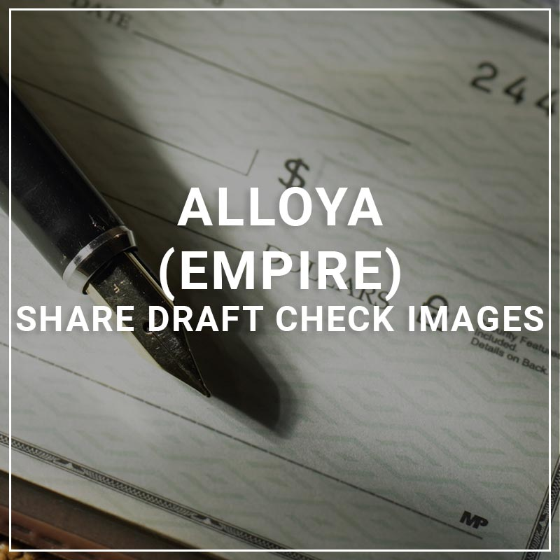 Alloya Empire Share Draft Check Images