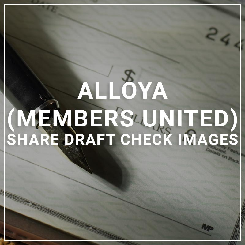 Alloys Members United Share Draft Check Images