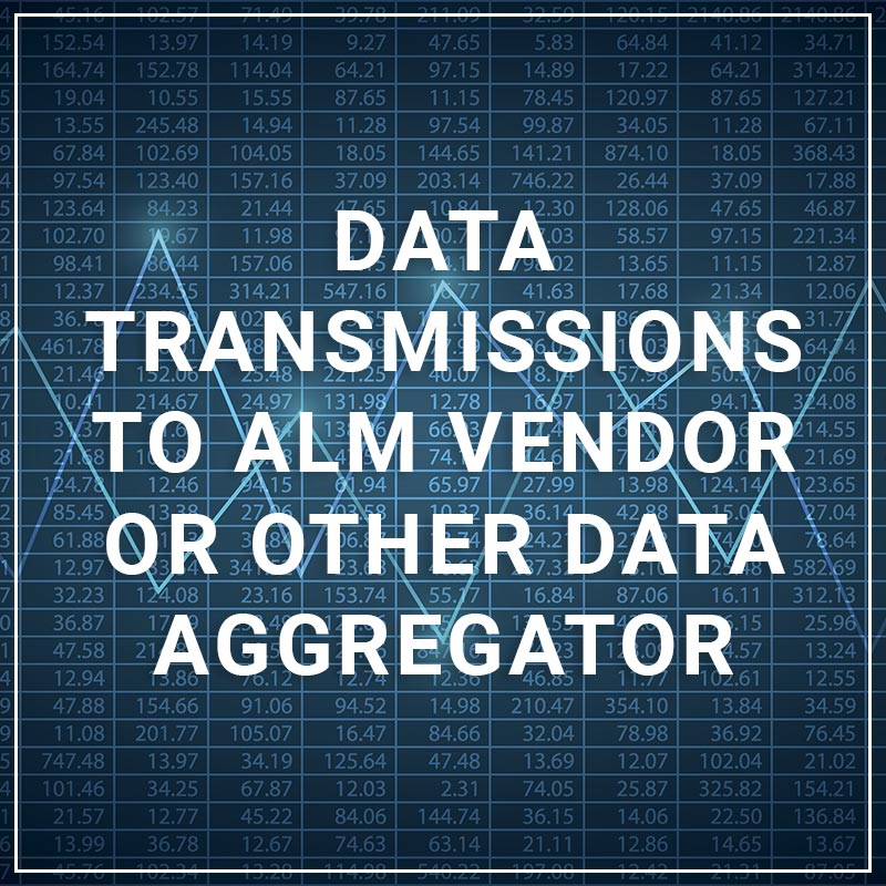 Data Transmissions to ALM Vendor or Other Data Aggregator