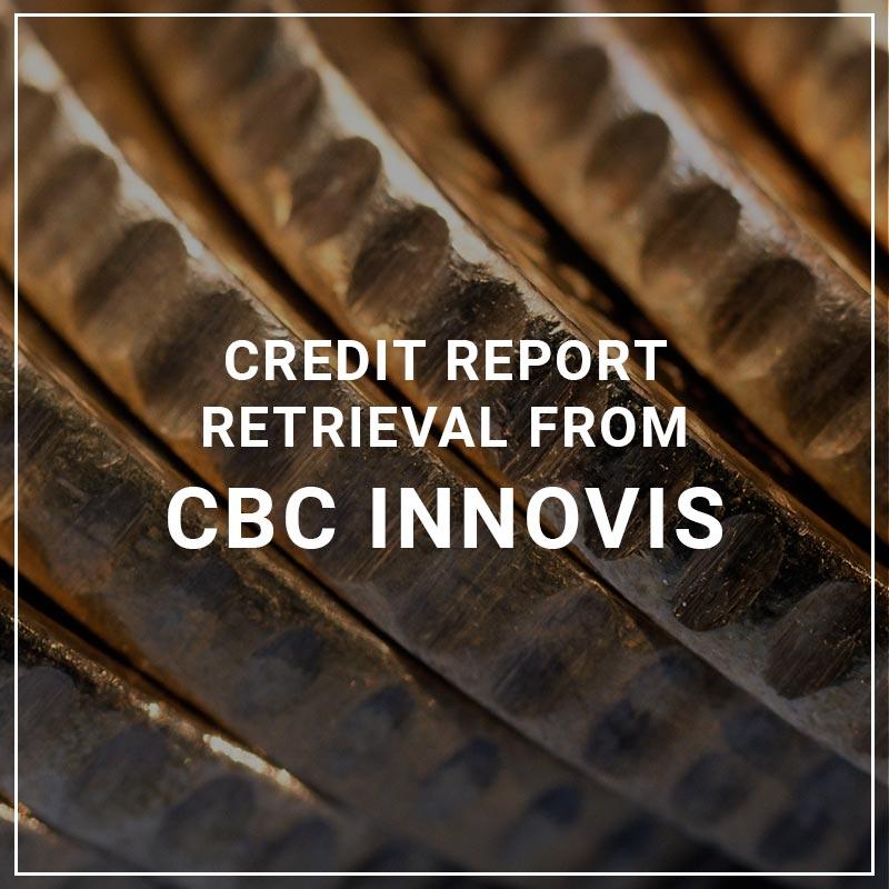 Credit Report Retrieval from CBC Innovis