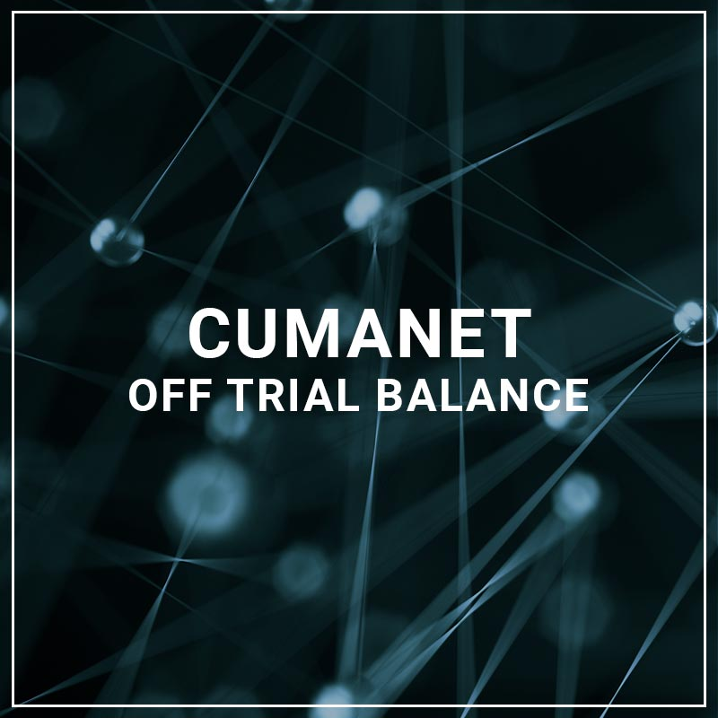 CUMANET Off Trial Balance