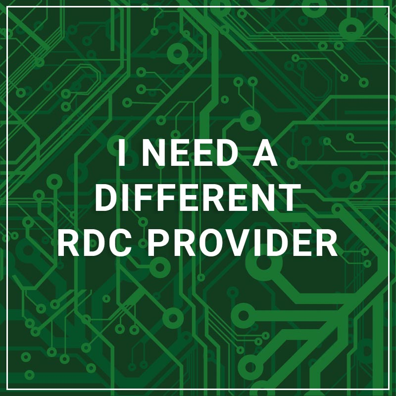 I Need a Different RDC Provider