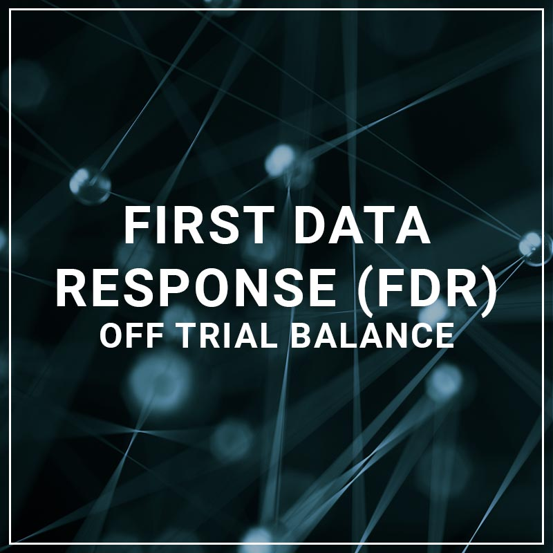 First Data Response Off Trial Balance
