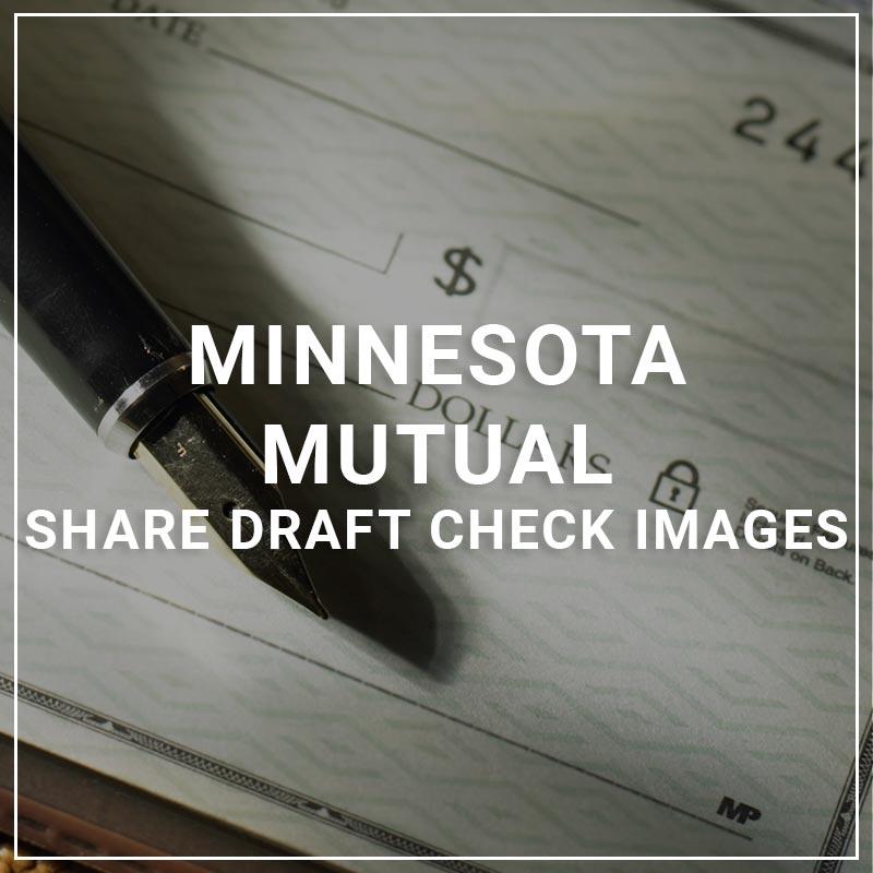 Minnesota Mutual Share Draft Check images