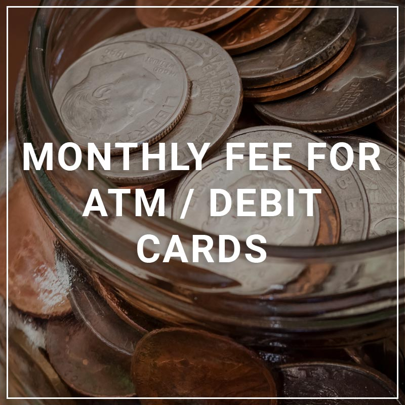 Monthly Fee for ATM/Debit Cards