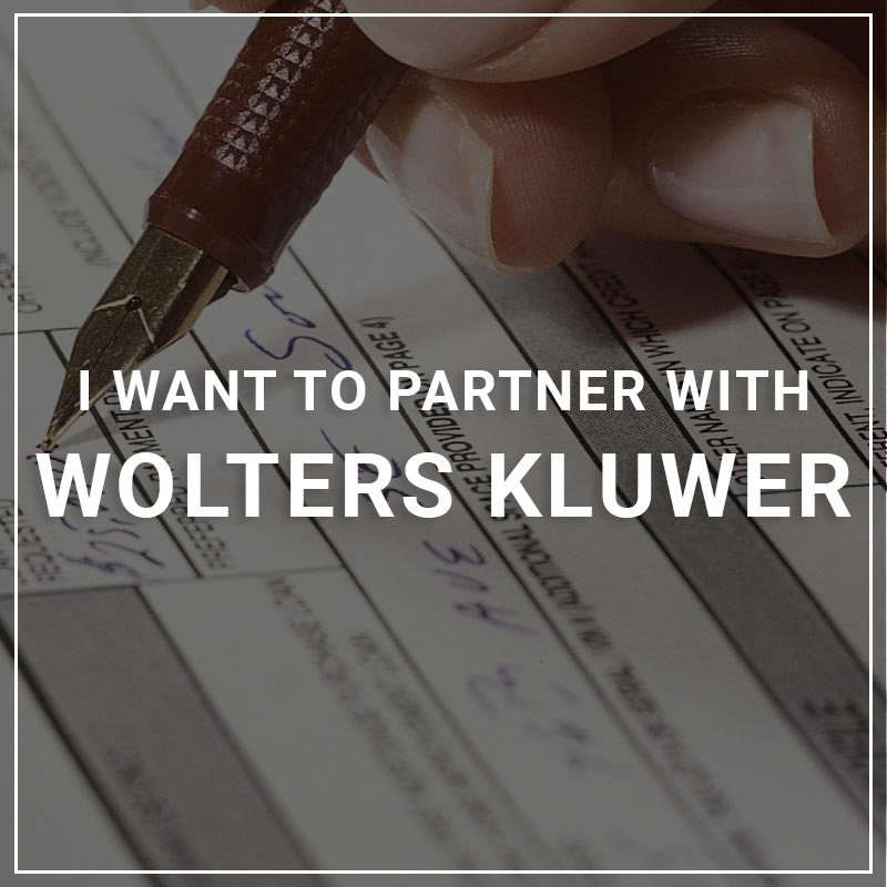 I Want to Partner with Wolters Kluwer