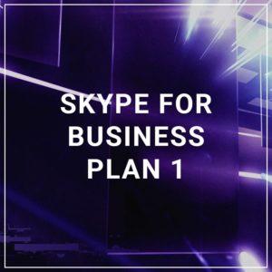 Skype for Business Plan 1