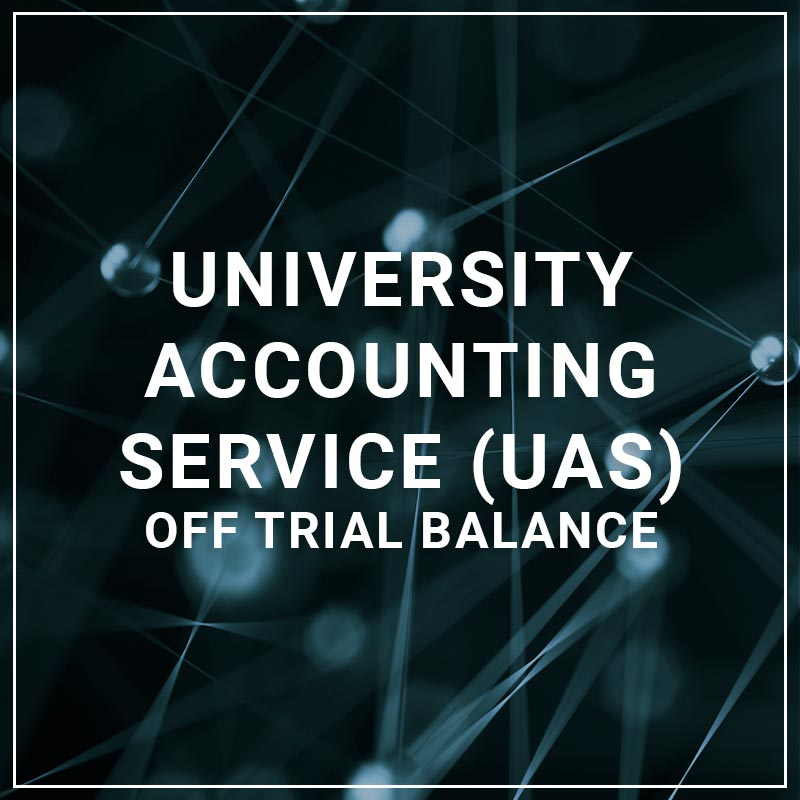 University Accounting Service Off Trial Balance