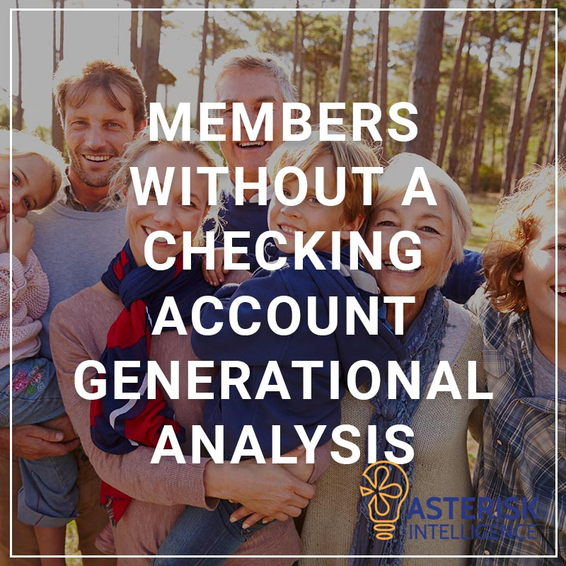 Members Without a Checking Account Generational Analysis - a service by Asterisk Intelligence