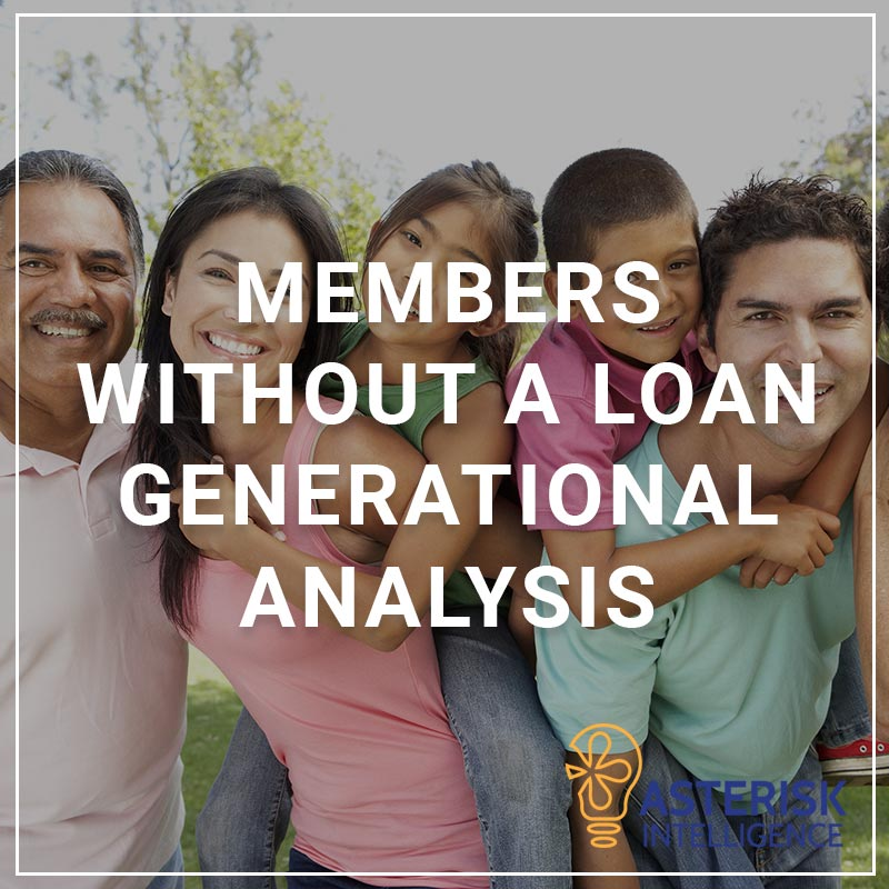 Members Without a Loan - Generational Analysis - a service by Asterisk Intelligence