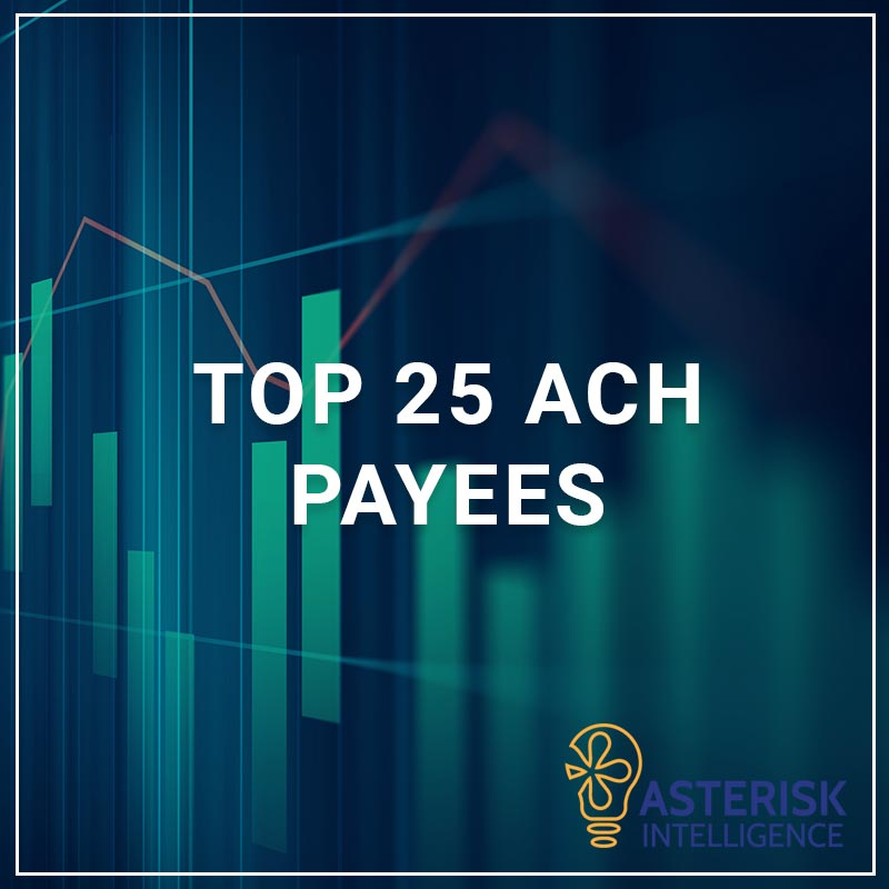 Top 25 ACH Payees - a service by Asterisk Intelligence