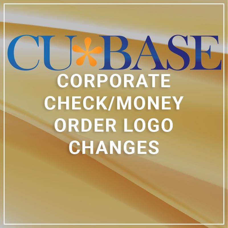 Corporate Check/Money Order Logo Changes