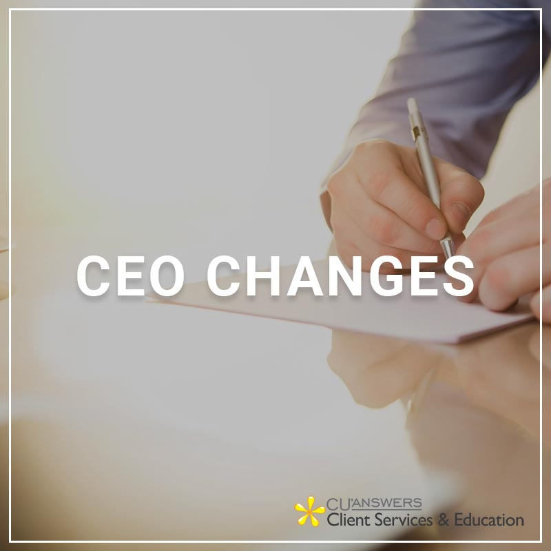 CEO Changes - a service by Client Services & Education