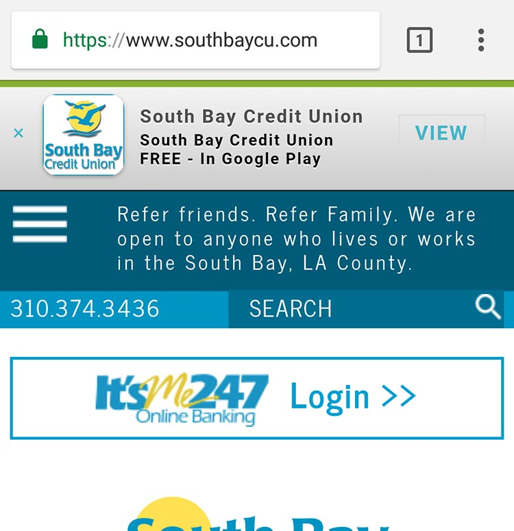 South Bay Credit Union on Google Play