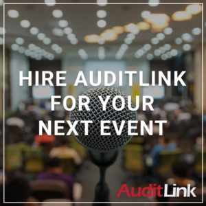 Hire AuditLink for Your Next Event - a service by AuditLink