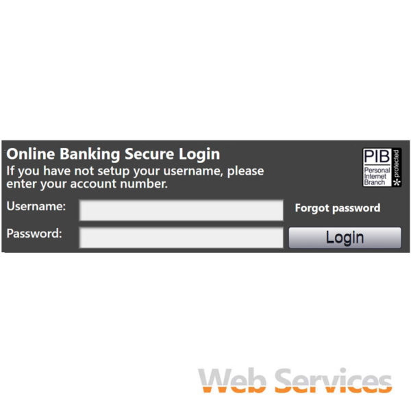 Rectangle with white Text Direct Login Widget - a service by Web Services