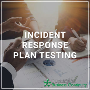 Incident Response Plan Testing - a service by Business Continuity Services