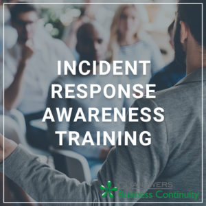 Incident Response Awareness Training - a service by Business Continuity Services
