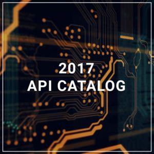 2017 API Catalog