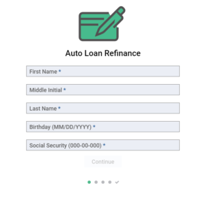 Secured Form – Auto Loan Refinance Application