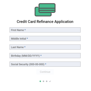 Secured Form – Credit Card Refinance Application