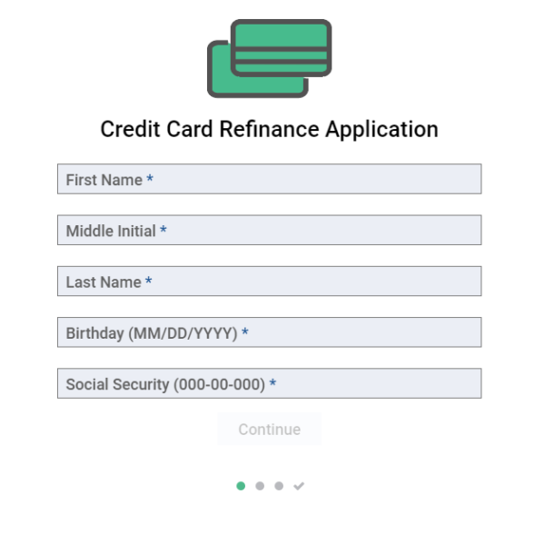 Credit Card Refinance Form
