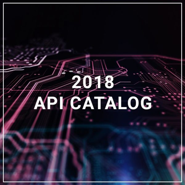 2018 API Catalog