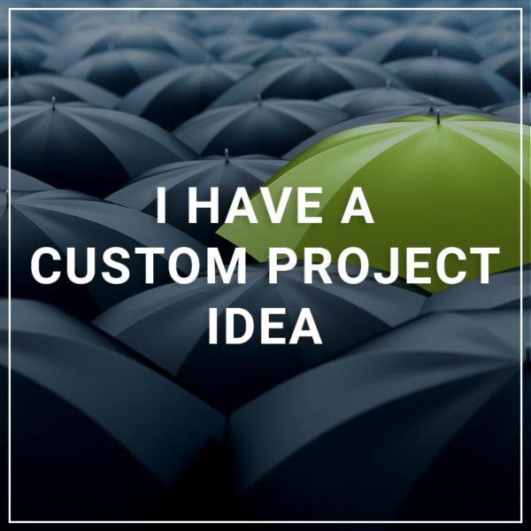 I Have a Custom Project Idea