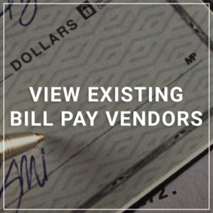 View Existing Bill Pay Vendors