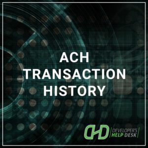 ACH Transaction History