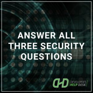 Answer All Three Security Questions