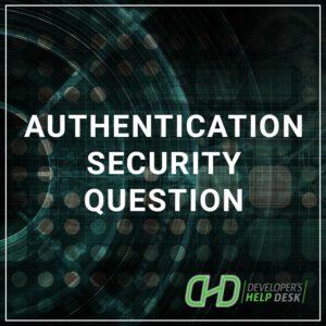 Authentication - Security Question