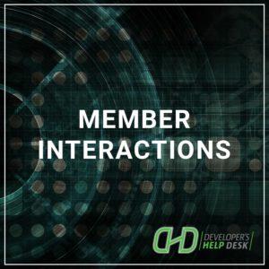 Member Interactions